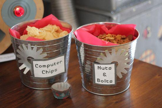 Snacks at a Robot Party #robot #partysnacks