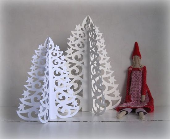 Diy paper Christmas trees