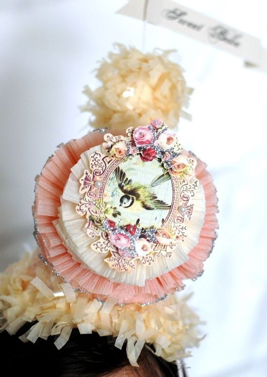 French Vintage SWEET BEBE Party Hat   part of The by Joosycardco, $21.00