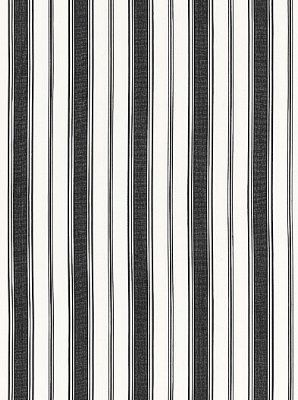 Schumacher Fabric Blanca Stripe-Noir $72.75 per yard #interiors #decor #stripedfabric