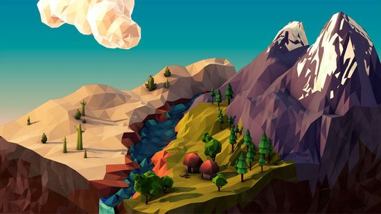 This guy's work is incredible!  Geometric Landscapes - 3D Artist & Motion Designer