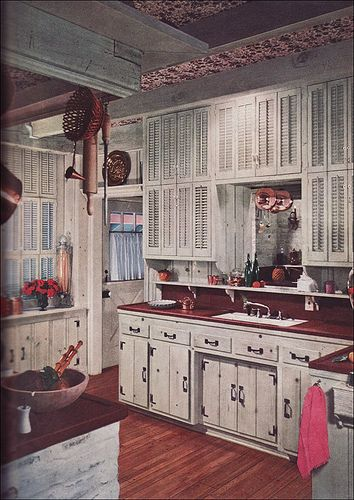 1955 Pickled Pine Kitchen by American Vintage Home, via Flickr