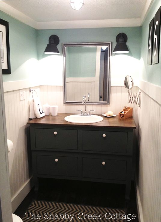 The Shabby Creek Cottage - farmhouse interiors re-designed: Bathroom Before & After