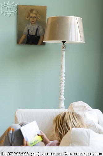 wall color/portrait/lamp/shade