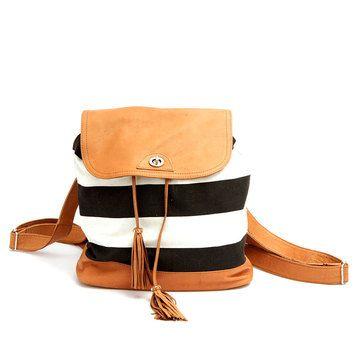 Striped Belar Backpack #stripes