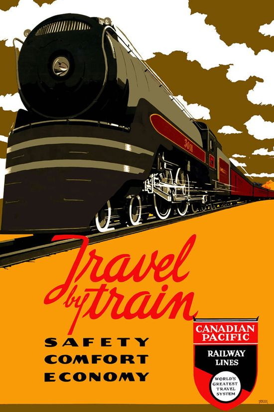 Canadian Pacific-Railway Lines vintage travel poster. love the art, love traveling by train!