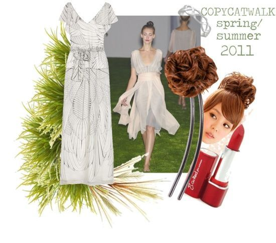 """Natural Coloring: Light Summer, Clothing Style: Ingenue Natural, Fashion Season: Spring/Summer 2011"" by copycatwalk"