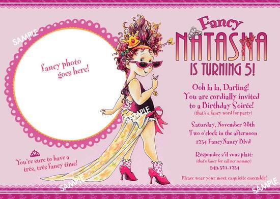Fancy Nancy Invitation for Birthday Party - Printable File. $9.99, via Etsy.