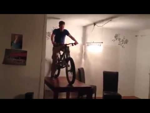 Bike off Kitchen Table Faceplant FUNNY PRANKS and FAILS - videos.ignitearts...
