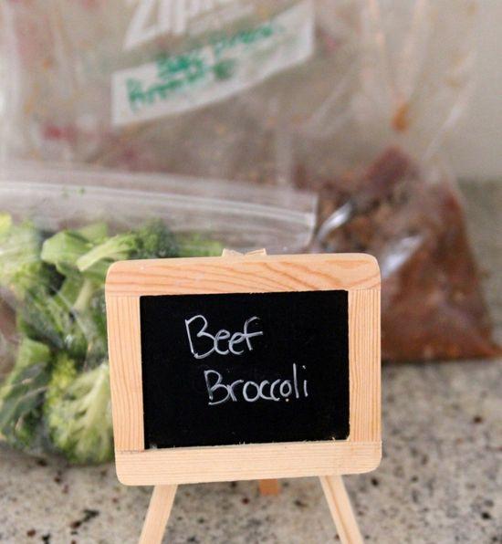 freezer crockpot cooking recipe- broccoli beef
