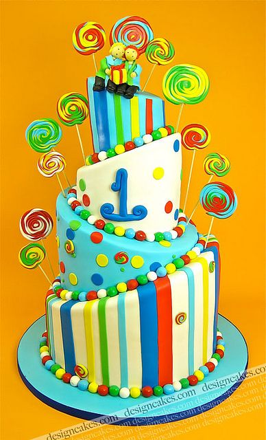 Candy land cake by Design Cakes, via Flickr