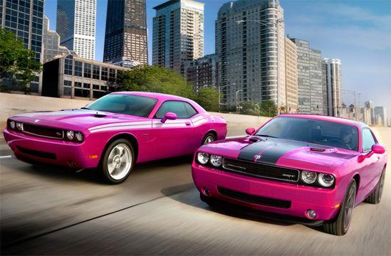 Pink!  Dodge Challenger....drool