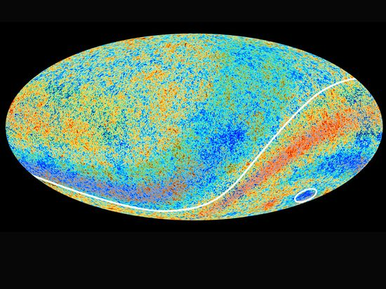 Map of the faint glow of radiation left over from the earliest light of the big bang. The latest data suggests the universe is expanding at a slower rate than thought, making it roughly 80m years older at 13.82bn years.