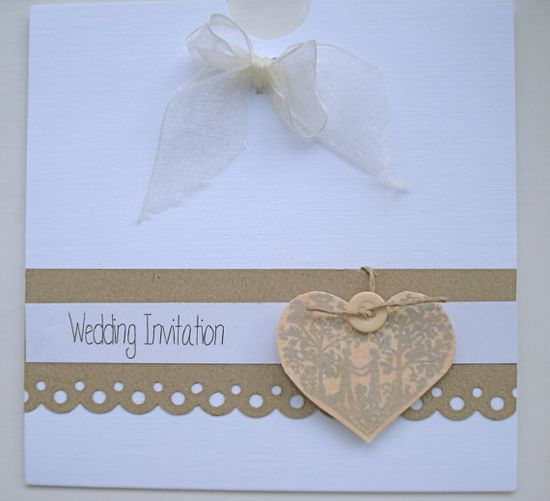 The ELLA Range Vintage handmade wedding invitation by BlueJardin, $4.25
