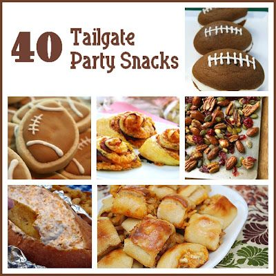 Football season is in full swing- here are 40 foods to make for your next football party or Superbowl! SixSistersStuff.com #appetizers #SuperBowl