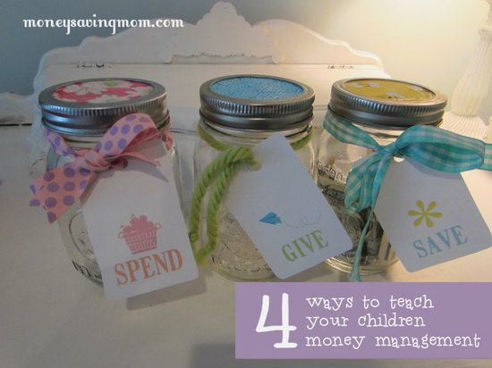 4 ways to teach your children money management