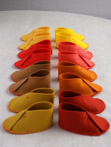 DIY felt baby shoes. so cute and easy!