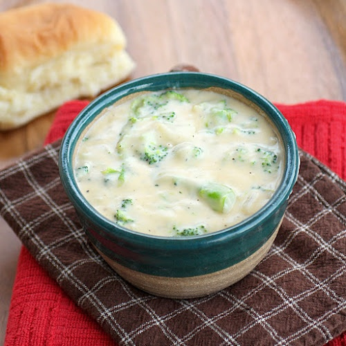Broccoli and cheese soup!