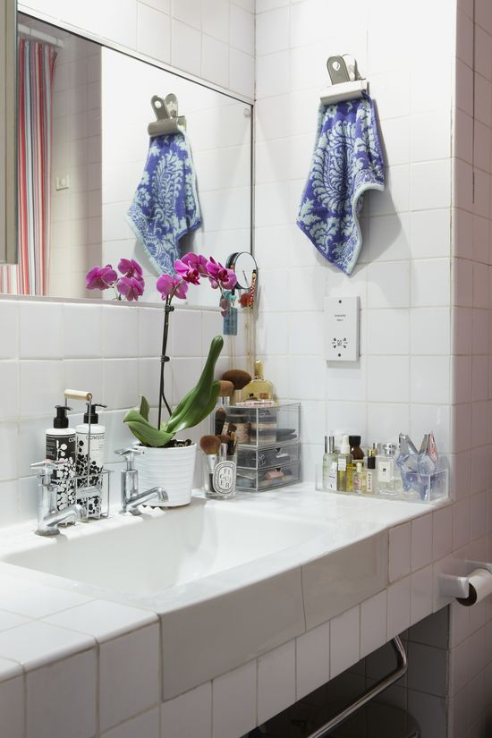 bathroom of @Elena Navarro del Rio - A Diary of Lovely    photographed by Sarah Hogan for @Matty Chuah Everygirl