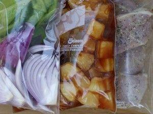 Freezer Aloha Pork Chops - Dinner