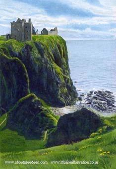 Stonehaven Castle, Scotland