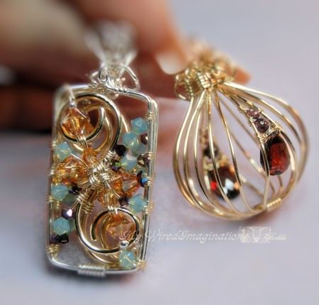 Wire  Jewelry Tutorial  2 Hinged Cages and a by MyWiredImagination, $10.00