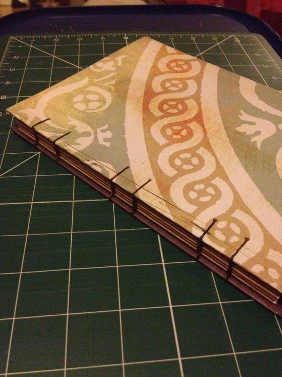 Handmade journal. Coptic binding.