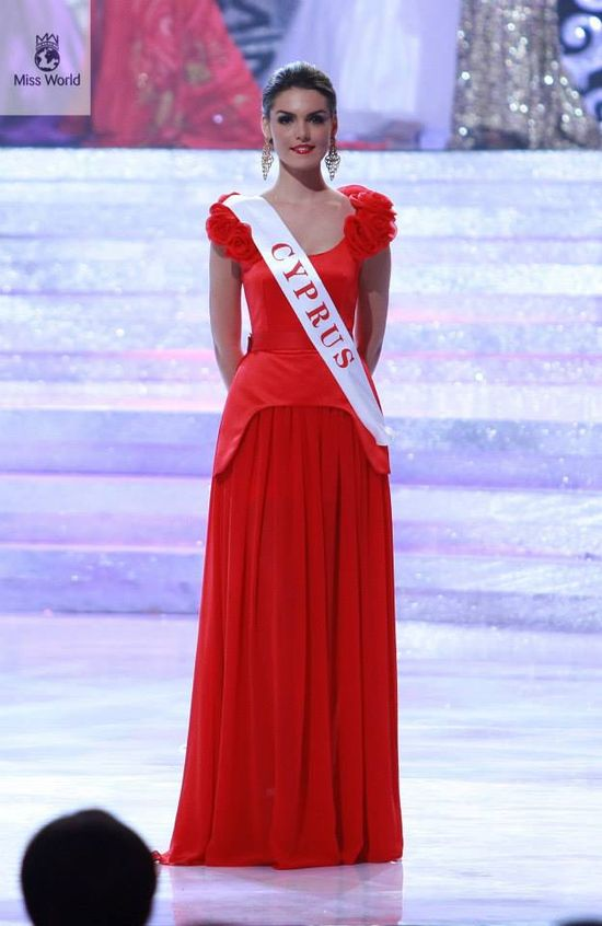 Miss Cyprus - 28 Stunning Dresses From Miss World 2013