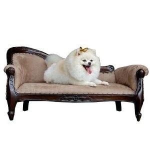 Amazon.com: D-ART Victorian Pet Sofa Bed - in Mahogany wood: Pet Supplies