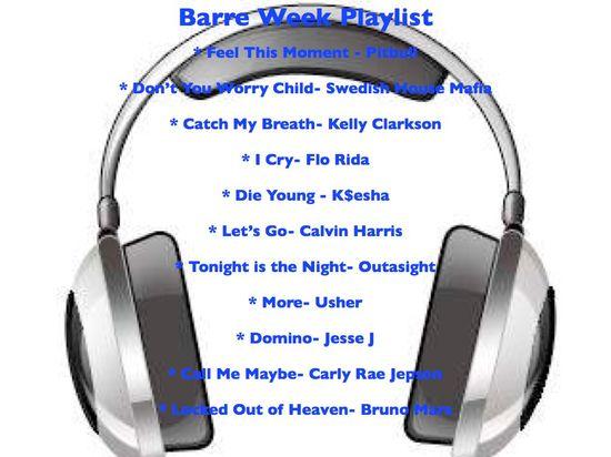 Barre Week- Barre Workout Playlist