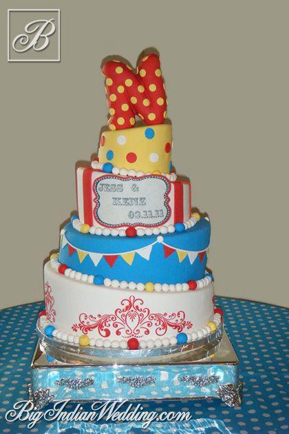 Cakes and Cupcakes fun wedding cakes
