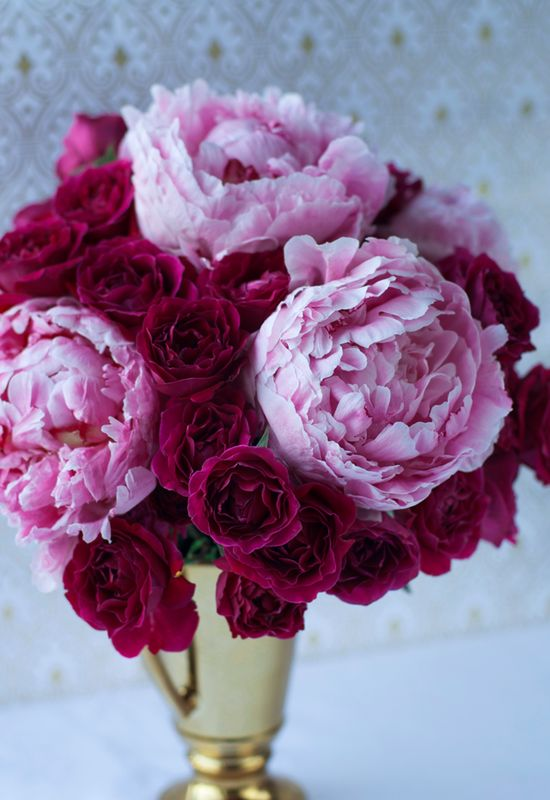 Peonies and Roses