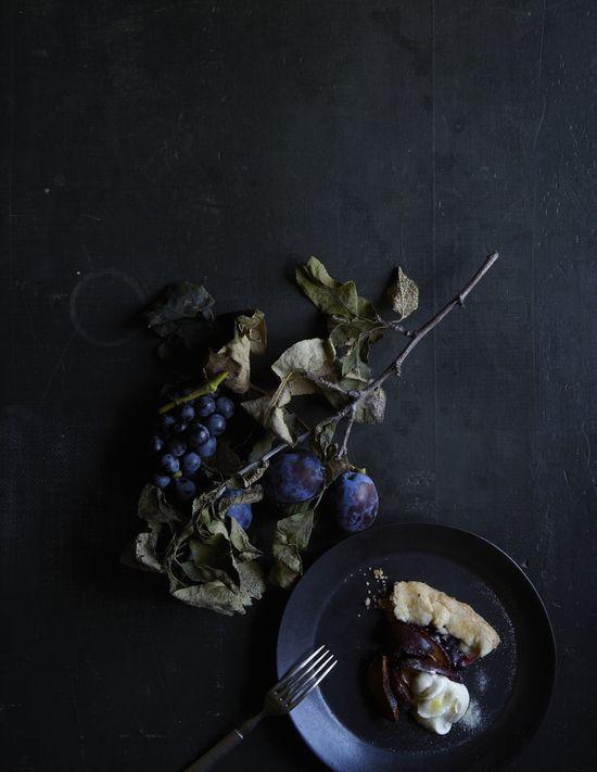 concord grape and plum tart