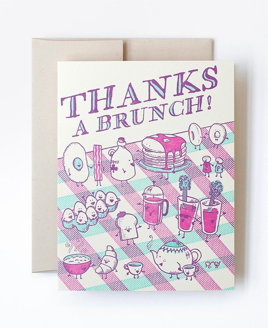 Thanks a Brunch card by Hello!Lucky.