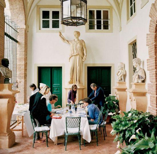 green doors, green chairs: The Decadent Italian Interiors of Villa Cetinale in Tuscany | Vanity Fair