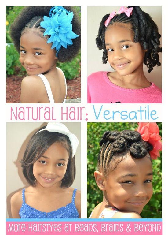 Natural Hair: Versatile - More little girls hair styles on Beads, Braids & Beyond blog.