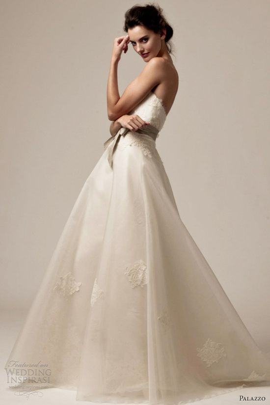 palazzo bridal 2013 wedding dresses dawn strapless