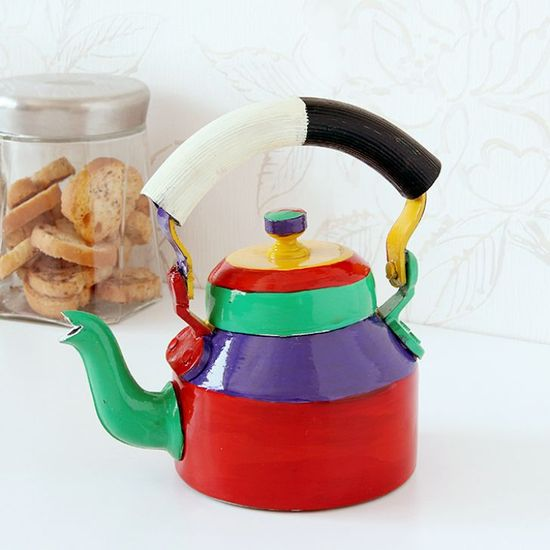 Kaushalam Tea Kettle Multicolor - FabFurnish.com-Kitchen-Decor