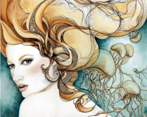 Feminine and Sultry Works by Tina Darling #psychedelicart trendhunter.com
