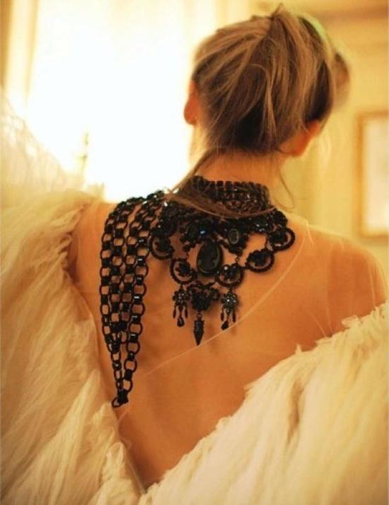 Back Necklaces / Wedding Style Inspiration / LANE #wedding #jewelry
