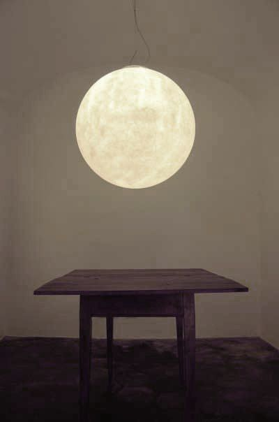 A light pendant that looks like the real moon! Brilliant!