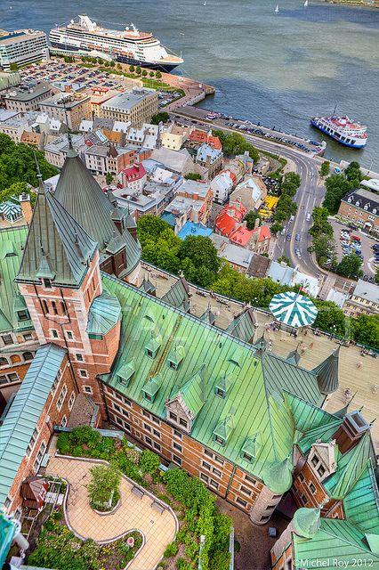 ? Aerial view of Quebec City, Canada