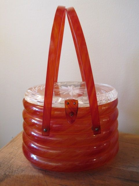 lucite beehive purse