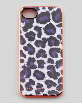 MARC by Marc Jacobs Lenora Leopard-Print iPhone 5 Case, Royal Purple on shopstyle.com $38