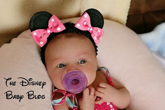 Minnie Mouse Bow Ears on Hair Clips $13.99 #etsy #disney #baby
