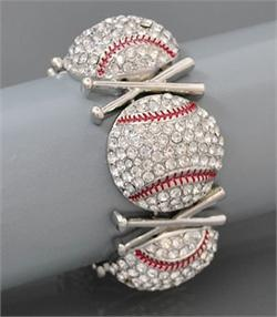 BRA6356CLR – Baseball Stretch Bracelet