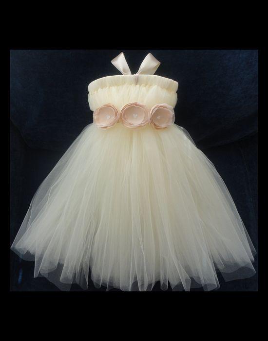 Flower Girl Dress, Tutu, Tutus, Portrait Dress, Weddings, Flowergirl, Summer, Sp