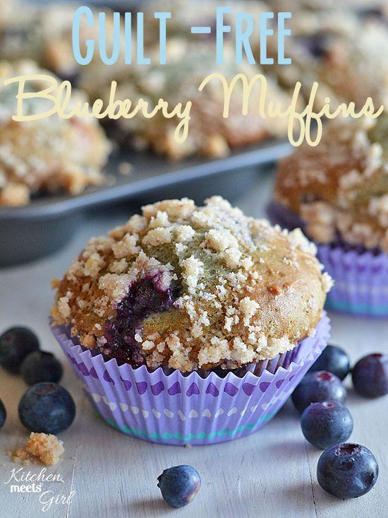 Blueberry Muffins made w/ Blueberry 0% Chobani Greek Yogurt