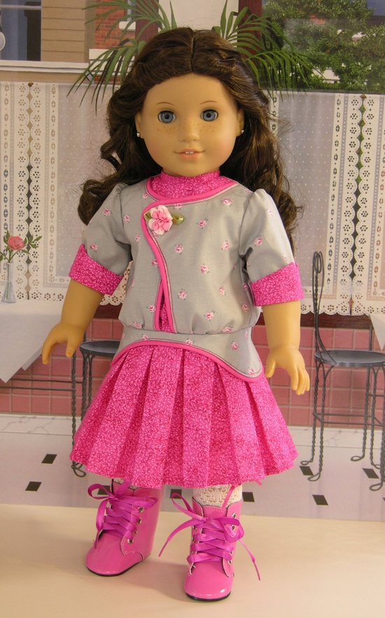 Lady Rose- dropwaist dress and bloomers for American Girl. $89.00, via Etsy.