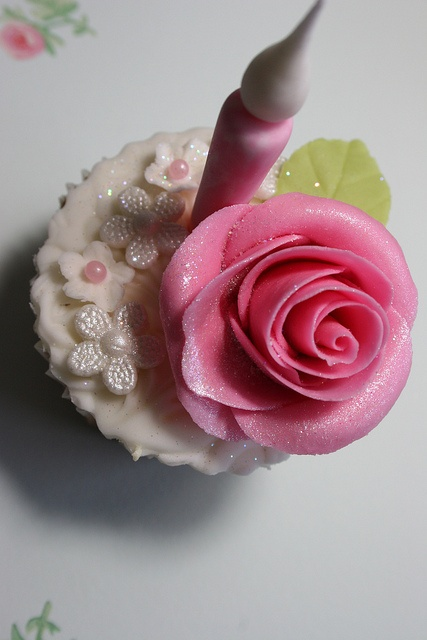 So sweet.   Pink rose cupcake for an 18th birthday party by elizabethscakeemporium, via Flickr